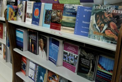Our retail bookstore at the Barbados Community College